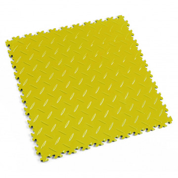"Dalle PVC garage Fortelock Industry 2010 ""Diamond Jaune"""
