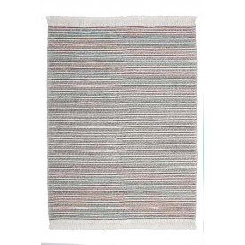 Tapis en laine Amazone 061001 Coloris naturel / Gris