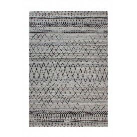 Tapis en laine Amazone 066003 Coloris naturel / Gris
