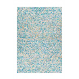 Tapis en cuir Amazone 099004 Turquoise / Or