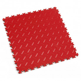 "Dalle PVC garage Fortelock Light 2050 ""Diamond Rouge Rosso"""